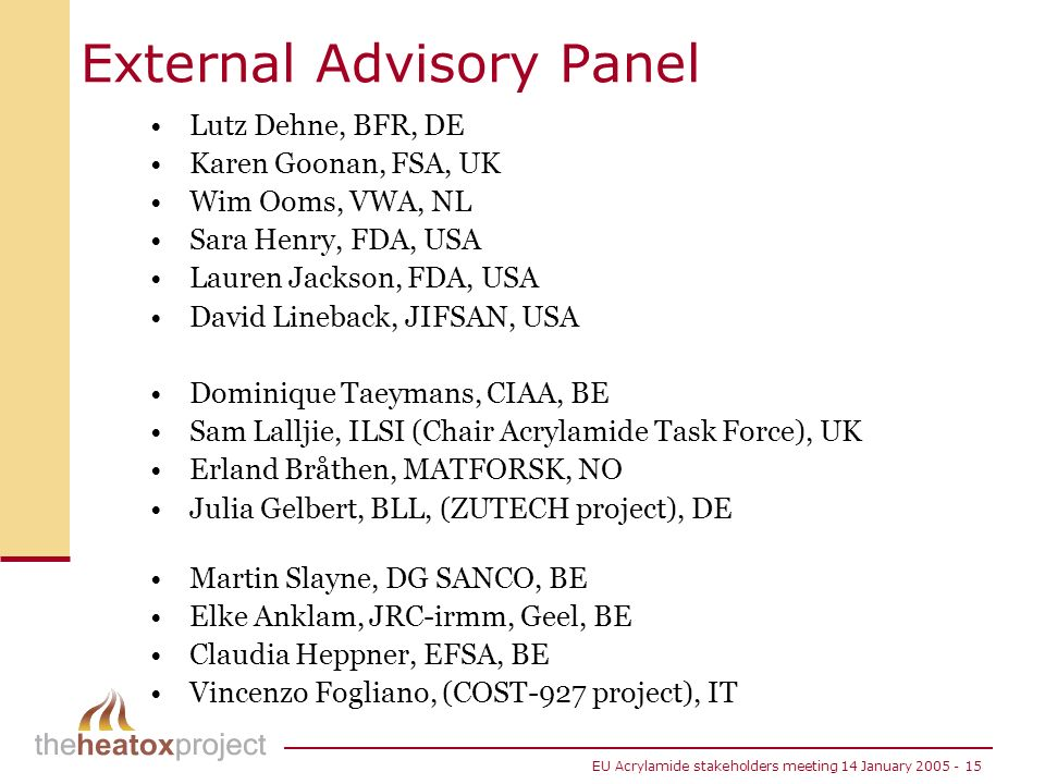 External Advisory Panel