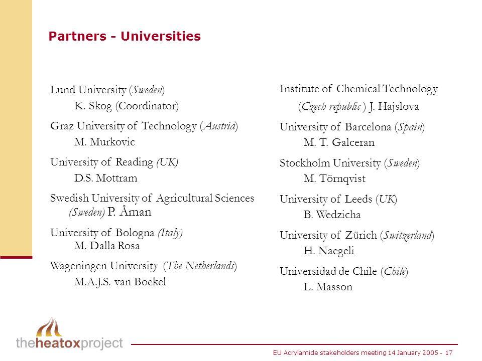Partners - Universities