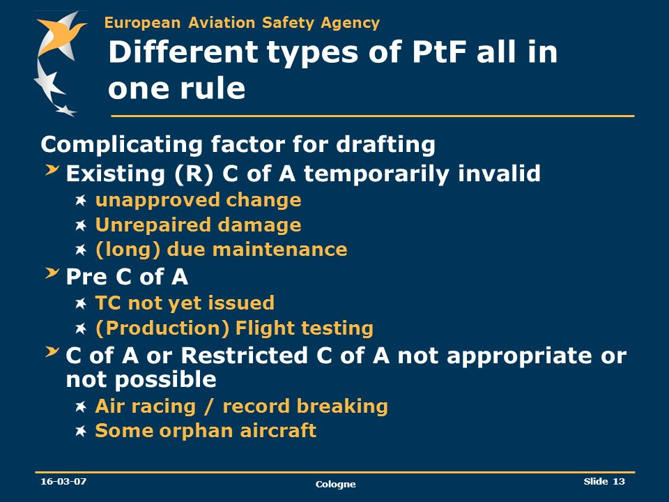 Different types of PtF all in one rule