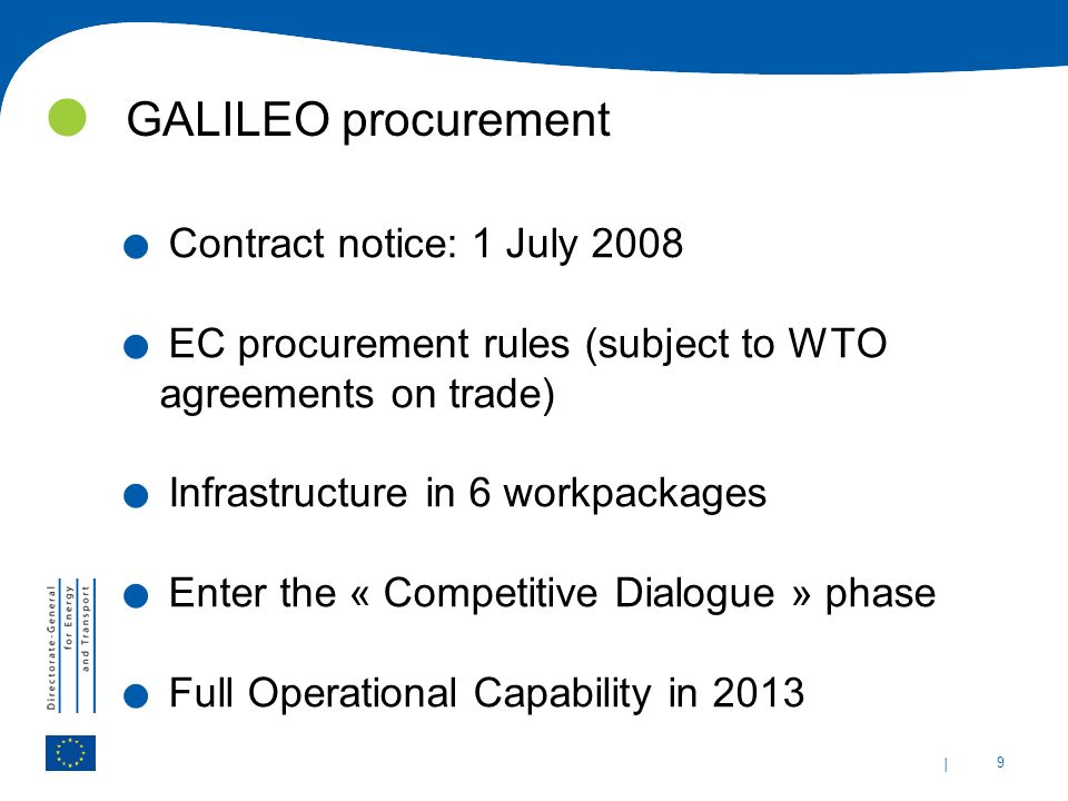 GALILEO procurement Contract notice: 1 July 2008