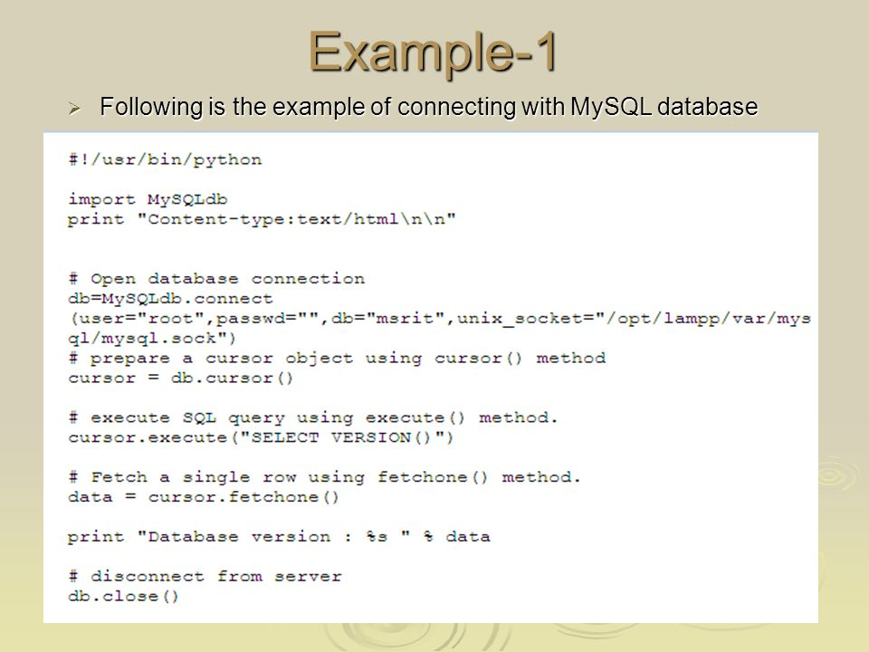 Python Mysql Example Images Example Cover Letter For Resume