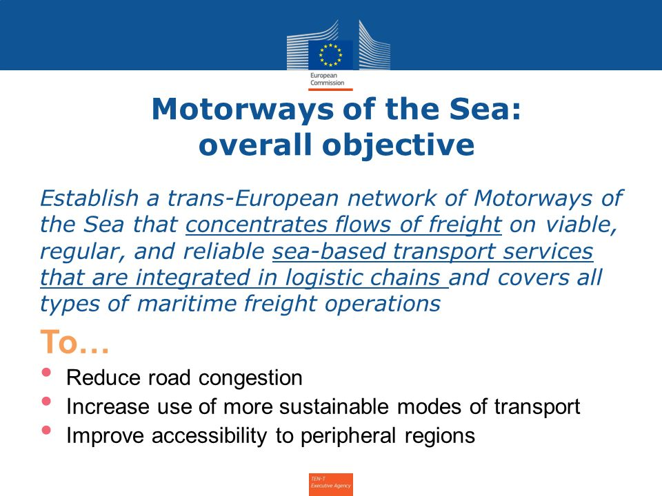 Motorways of the Sea: overall objective
