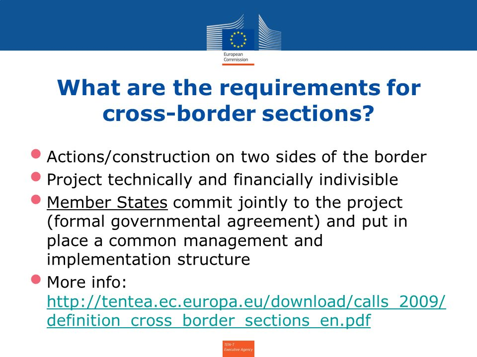 What are the requirements for cross-border sections