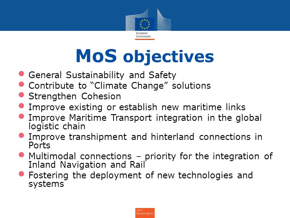 MoS objectives General Sustainability and Safety
