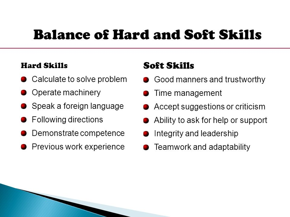 Hard skills with the soft skills management essay