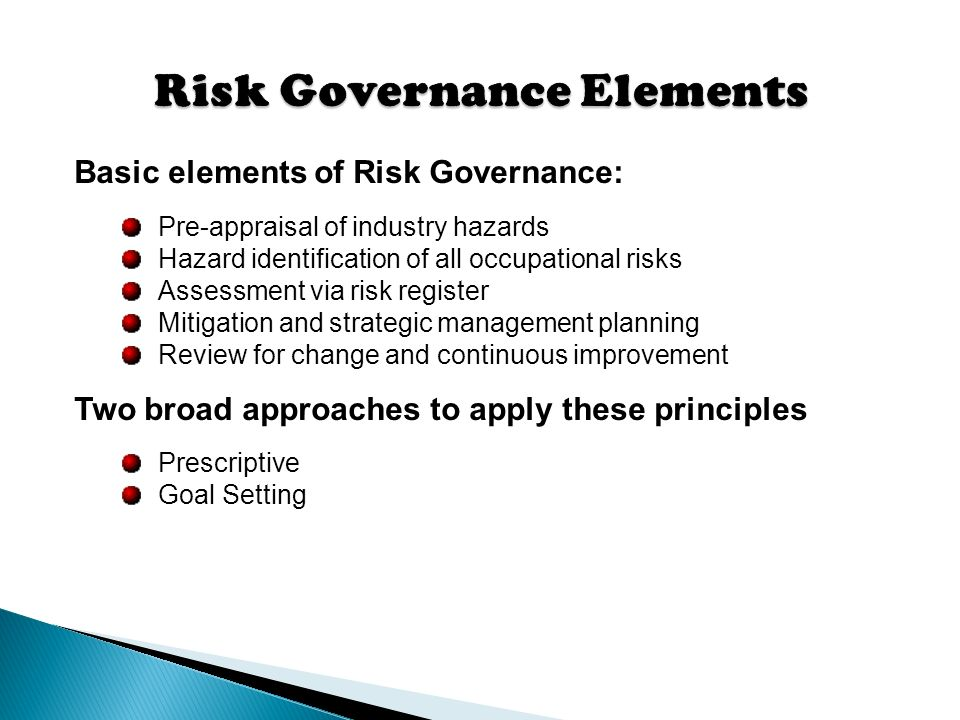 different elements of governance As boards of directors face a growing number of issues and risks to address, using a corporate governance framework can help them define roles and duties.