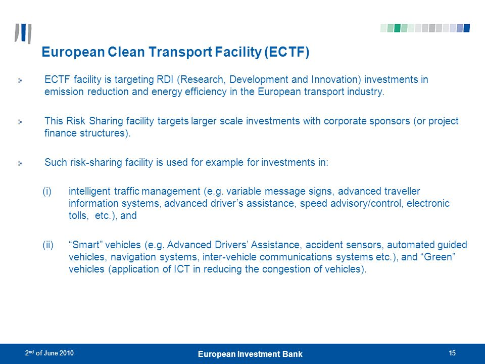 European Clean Transport Facility (ECTF)