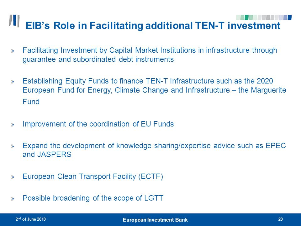 EIB's Role in Facilitating additional TEN-T investment