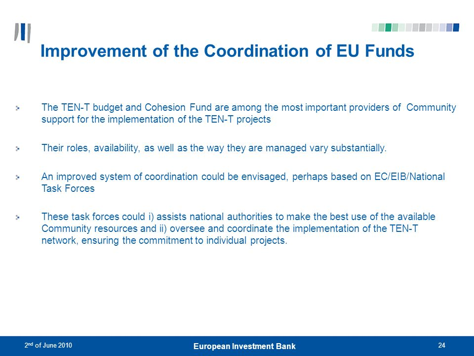Improvement of the Coordination of EU Funds