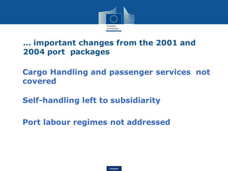 … important changes from the 2001 and 2004 port packages