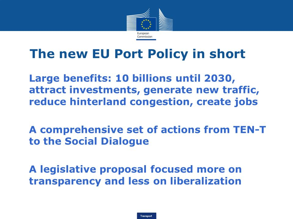 The new EU Port Policy in short