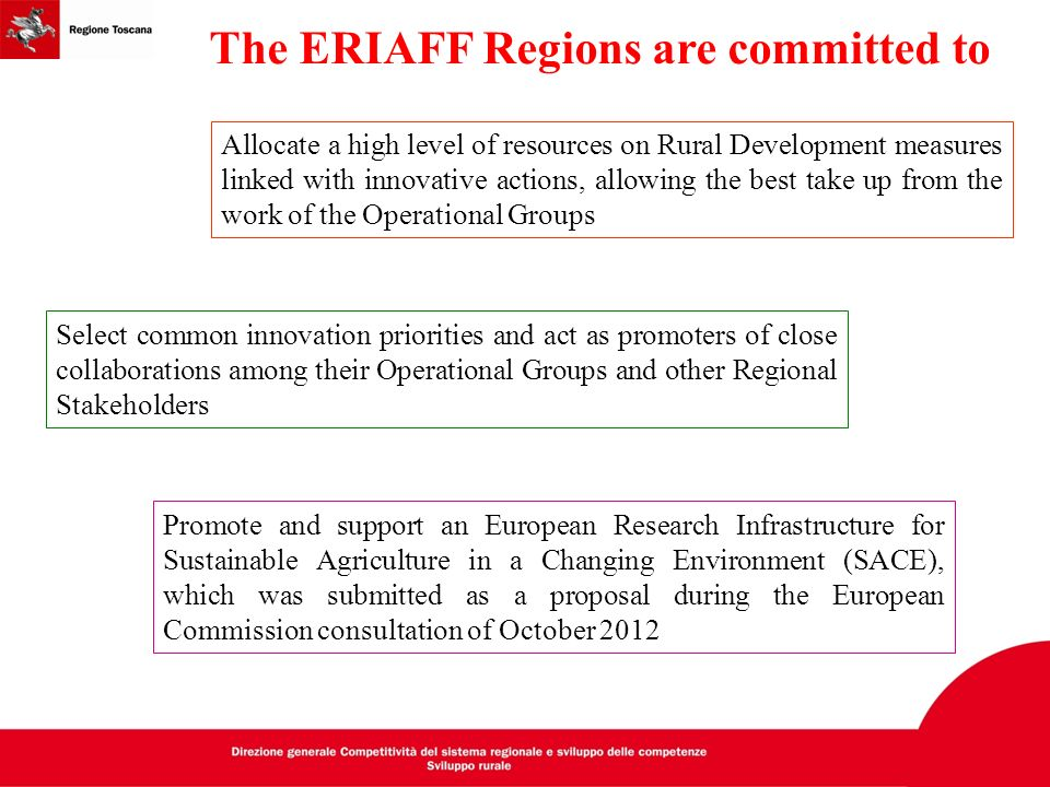 The ERIAFF Regions are committed to