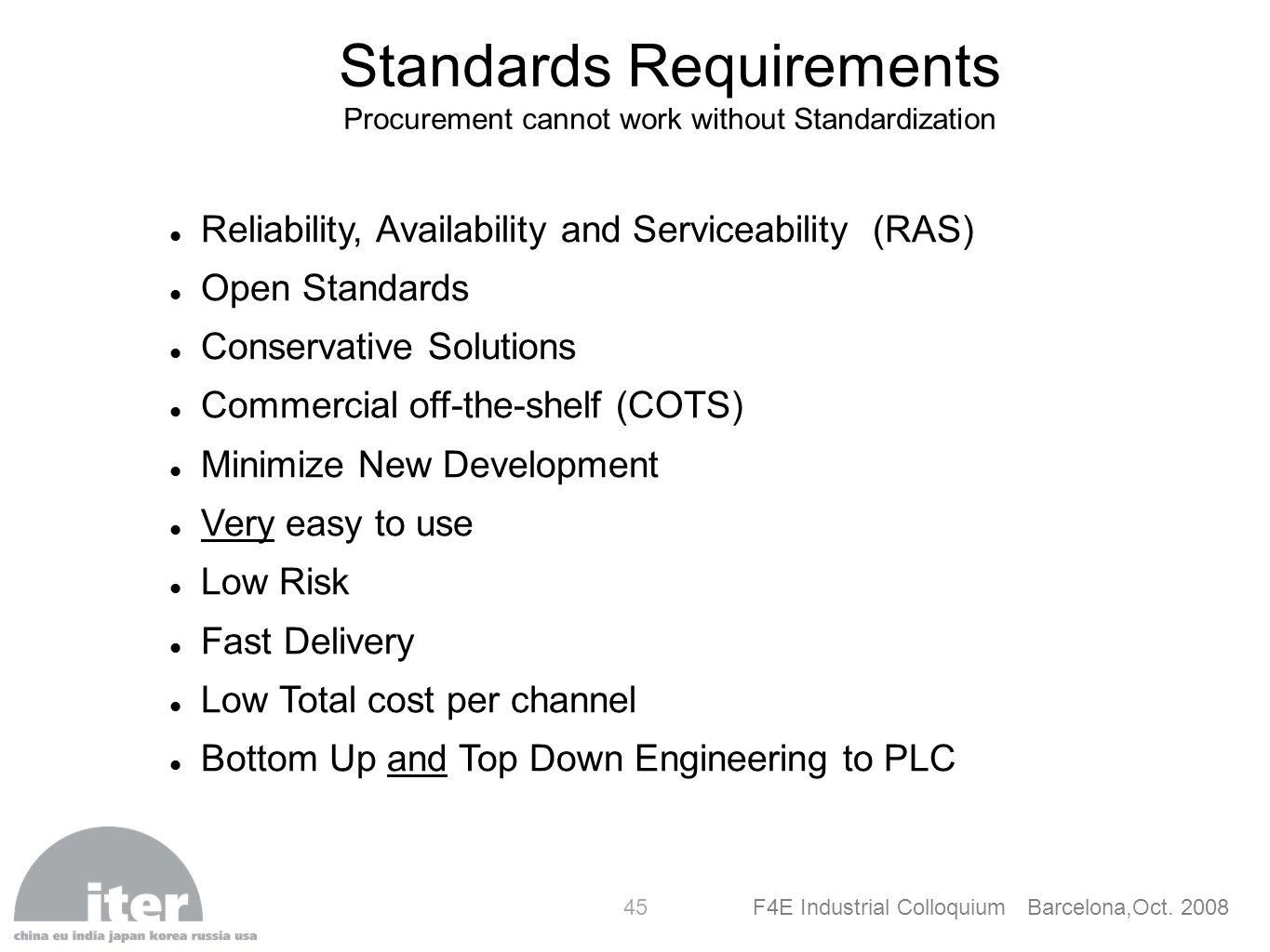 Standards Requirements
