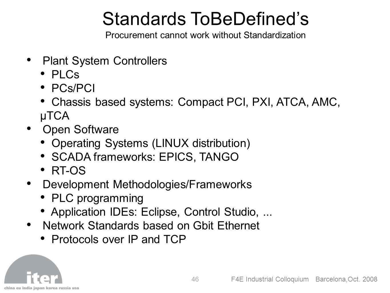 Standards ToBeDefined's