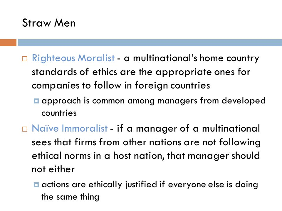 righteous moralist (it'd plainly be disastrous were every self-righteous moralist to go about  i want  to suggest that this principle holds no matter how righteous.