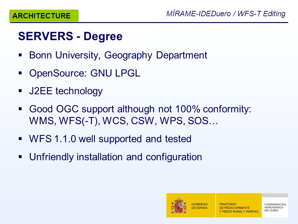 SERVERS - Degree Bonn University, Geography Department