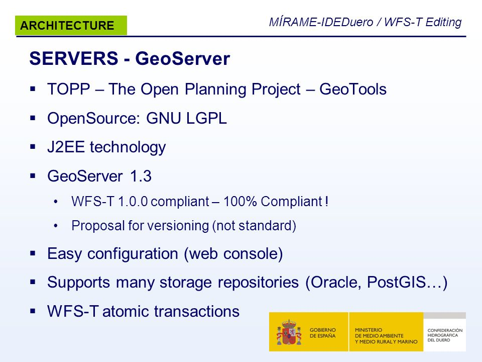 SERVERS - GeoServer TOPP – The Open Planning Project – GeoTools