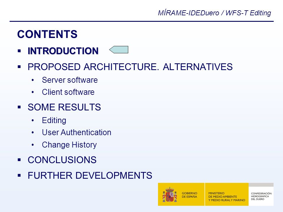 CONTENTS INTRODUCTION PROPOSED ARCHITECTURE. ALTERNATIVES SOME RESULTS