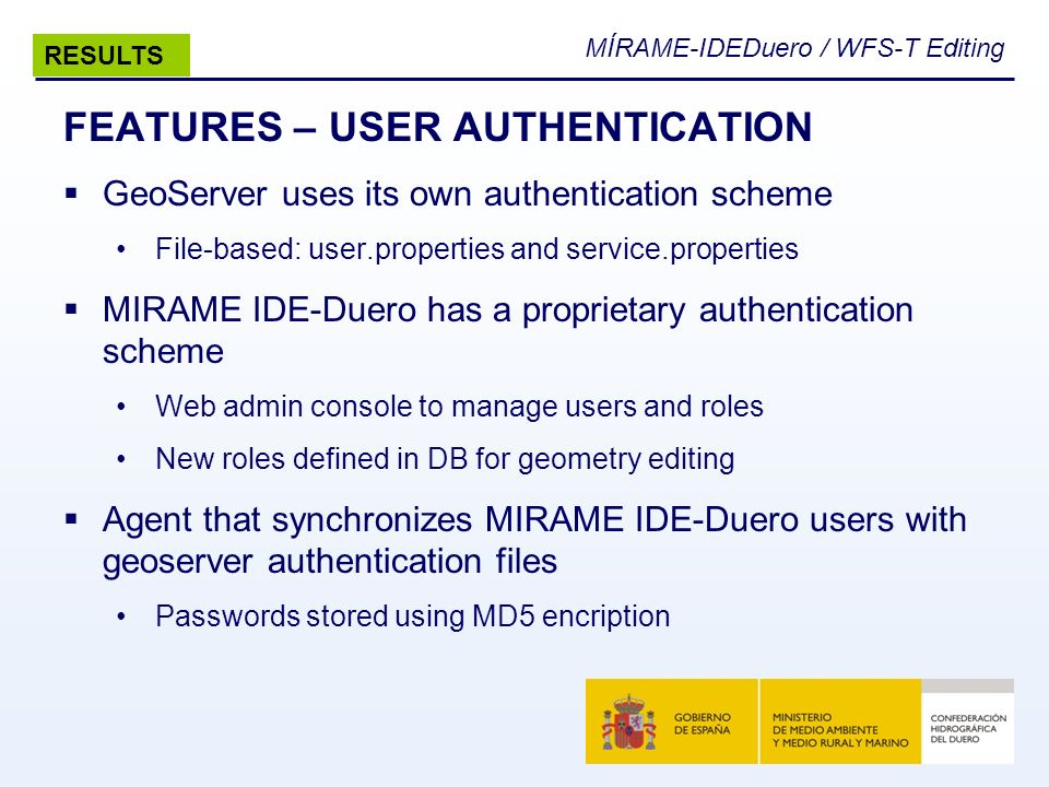 FEATURES – USER AUTHENTICATION