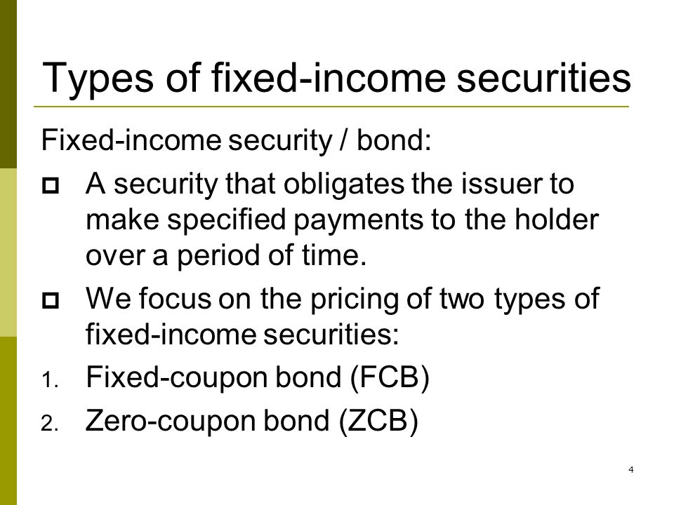 analysis of fixed income investments Fixed income is a type of investment whose return is usually fixed or predictable and is paid at a regular frequency like annually, semi-annually, quarterly or monthly along with equities, fixed.