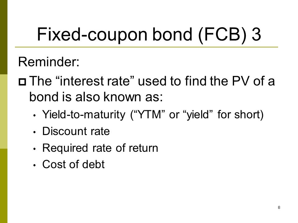 Are you paying too much for bonds somewhere else?