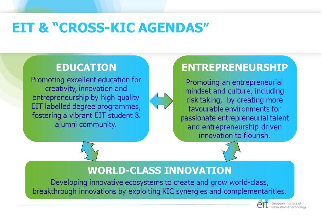 EIT & CROSS-KIC AGENDAS