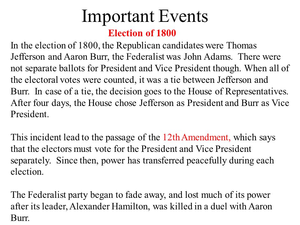 federalist views and actions during the time of thomas jeffersons presidency The federalist party originated in opposition to the democratic-republican party in america during president george washington's first administration.