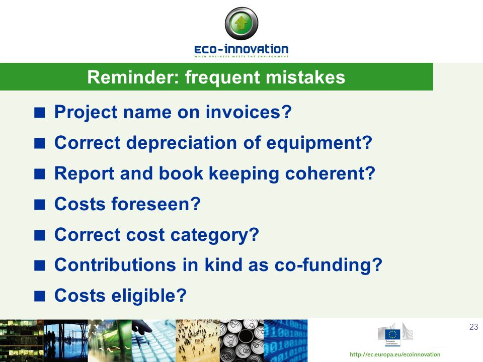 Reminder: frequent mistakes