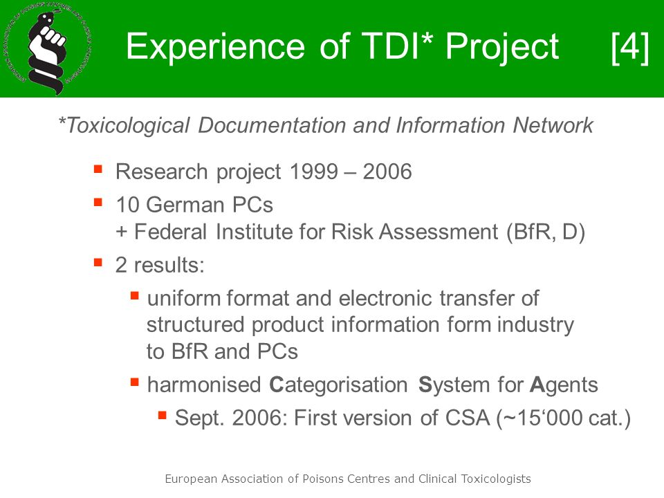 Experience of TDI* Project