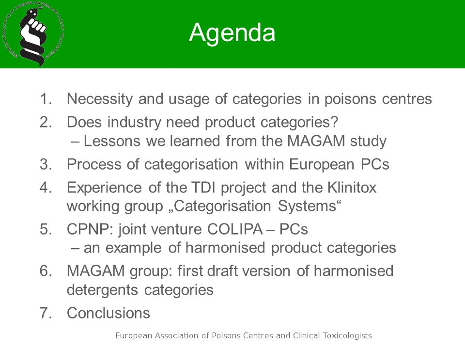 European Association of Poisons Centres and Clinical Toxicologists