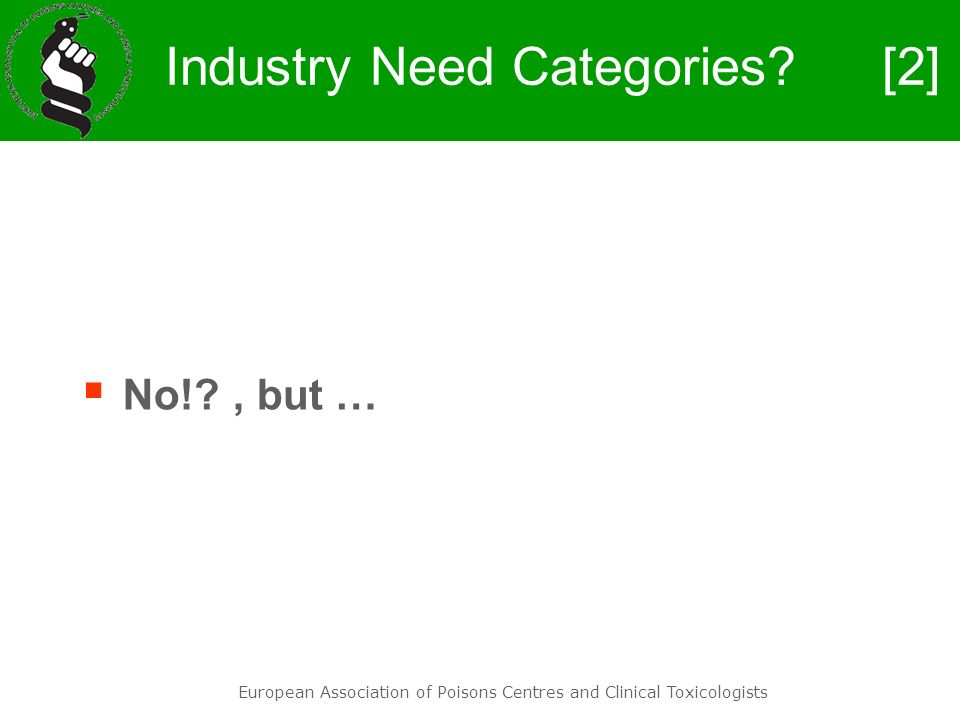 Industry Need Categories