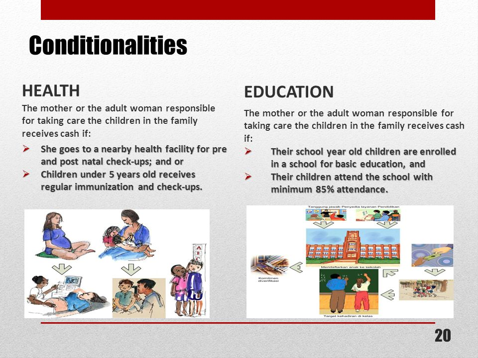 Conditionalities HEALTH EDUCATION