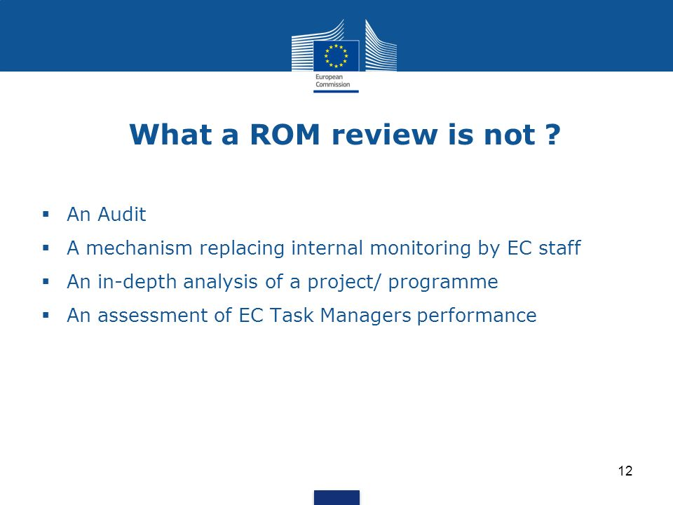 What a ROM review is not An Audit