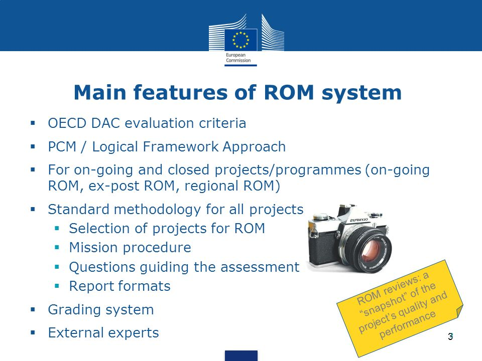 Main features of ROM system