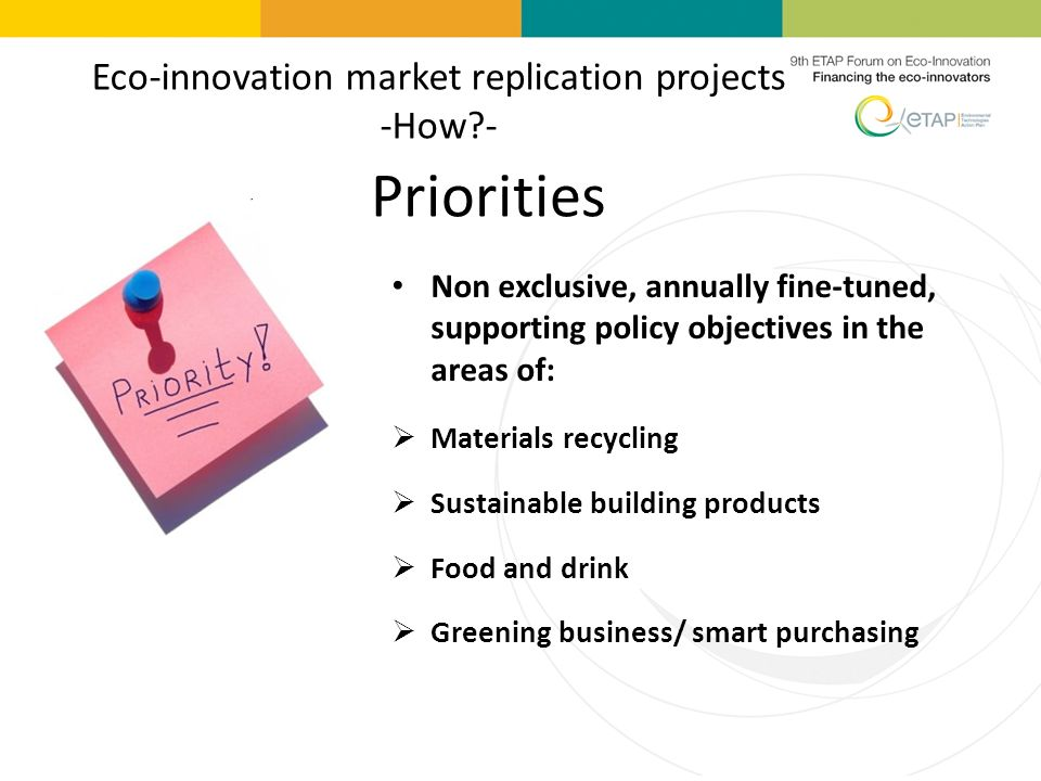 Eco-innovation market replication projects -How -