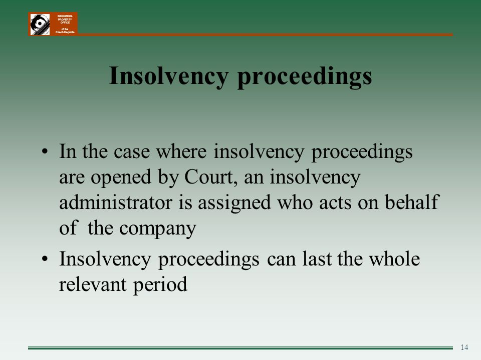 Insolvency proceedings