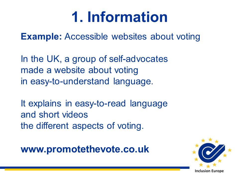 1. Information www.promotethevote.co.uk