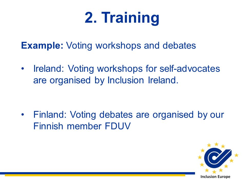 2. Training Example: Voting workshops and debates
