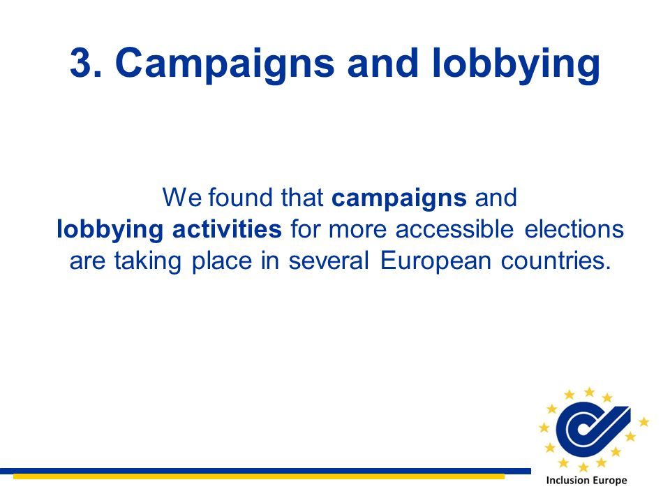 3. Campaigns and lobbying