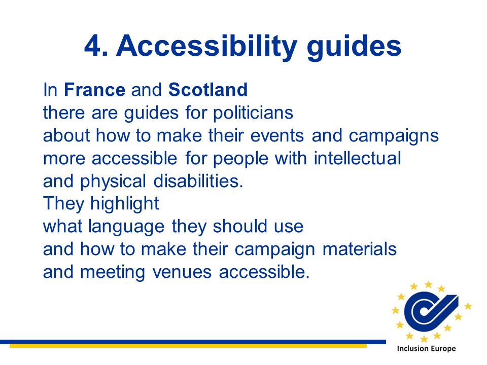 4. Accessibility guides In France and Scotland