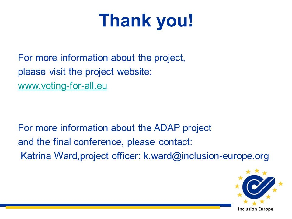 Thank you! For more information about the project,