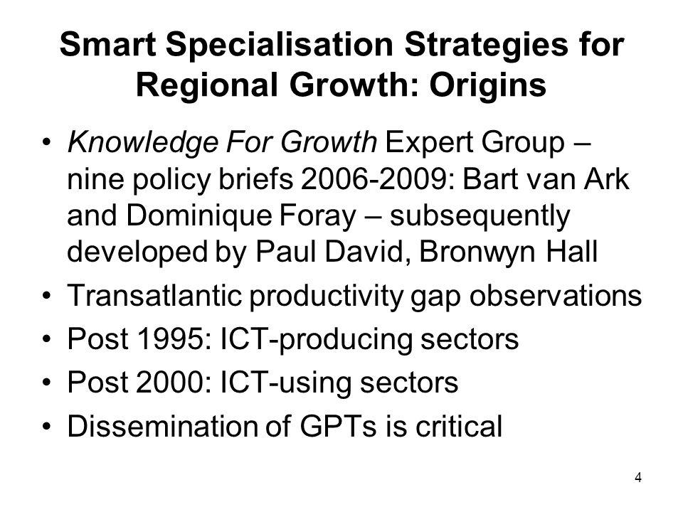 Smart Specialisation Strategies for Regional Growth: Origins