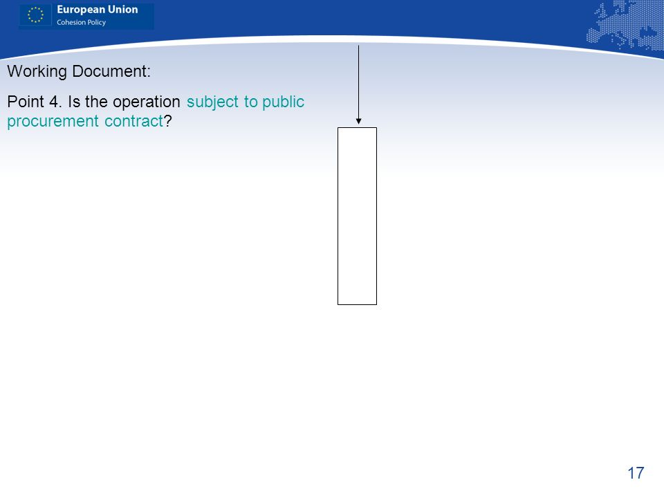 Point 4. Is the operation subject to public procurement contract