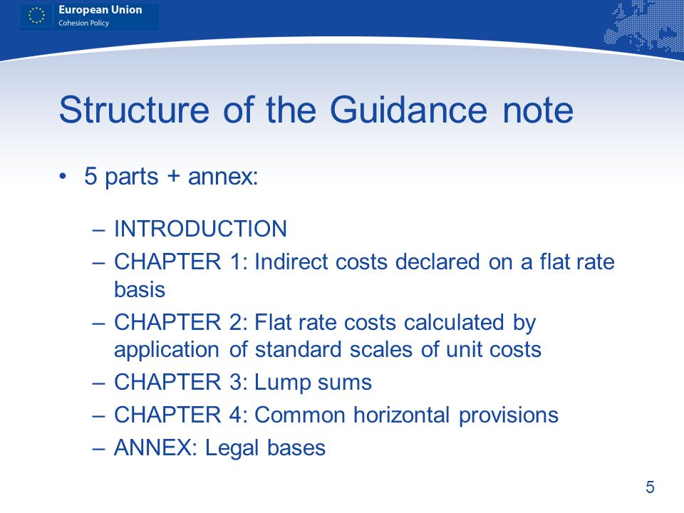 Structure of the Guidance note