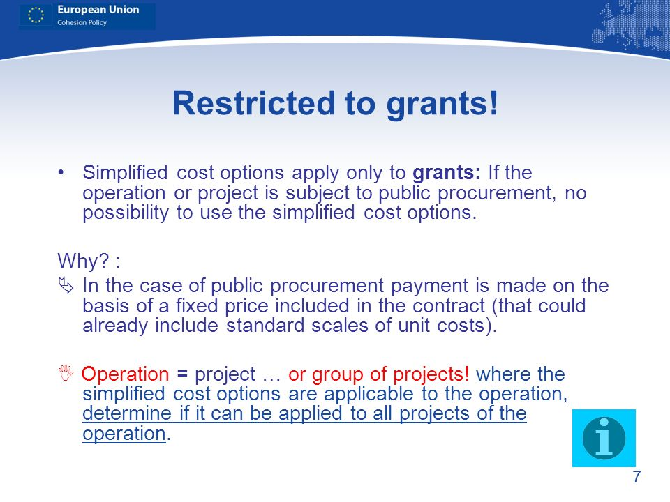 Restricted to grants!
