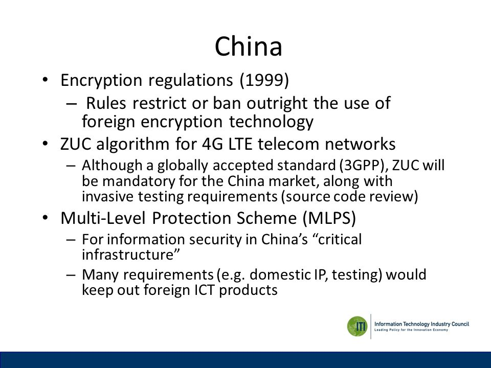 China Encryption regulations (1999)