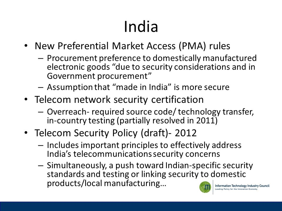 India New Preferential Market Access (PMA) rules