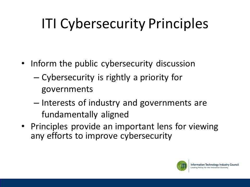 ITI Cybersecurity Principles