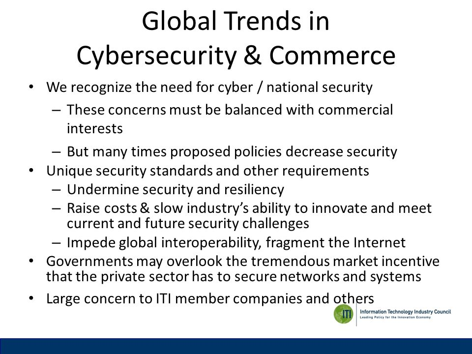 Global Trends in Cybersecurity & Commerce
