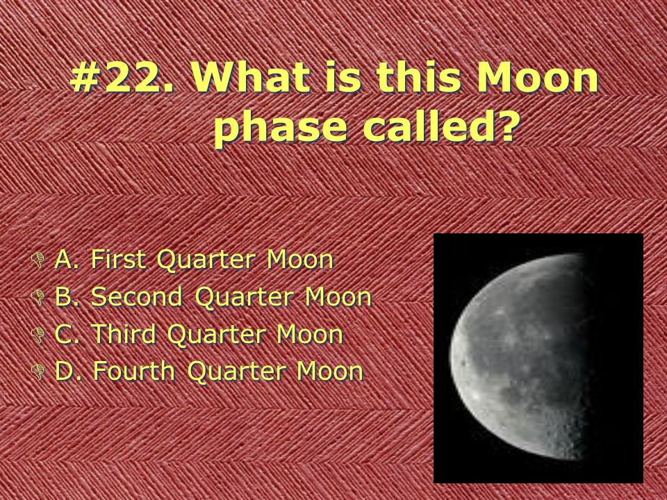Fourth Quarter Moon The Moon Science Stand...